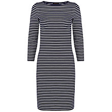 Buy Jaeger Breton Stripe Dress, Navy Online at johnlewis.com