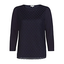 Buy Hobbs Ella Top, Navy Online at johnlewis.com