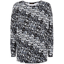 Buy Jaeger Wave Print Jersey Top, Blue/Multi Online at johnlewis.com