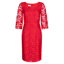 Buy Hobbs Jade Dress, Poppy Red Online at johnlewis.com