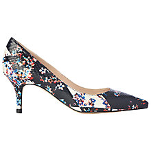 Buy L.K. Bennett Florisa Stiletto Heeled Court Shoes, Black/Multi Online at johnlewis.com
