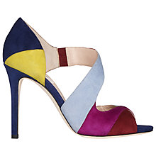 Buy L.K. Bennett Leona Asymmetric Stiletto Heeled Court Shoes, Multi Suede Online at johnlewis.com