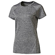 Buy Puma Running Short Sleeve Top, Black Heather Online at johnlewis.com