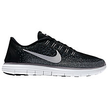 Buy Nike Free RN Distance Men's Running Shoes, Black/White Online at johnlewis.com