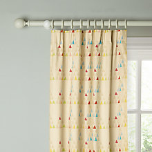 Buy little home at John Lewis Stars and Shapes Pencil Pleat Blackout Lined Curtains Online at johnlewis.com