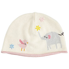 Buy John Lewis Baby Knitted Elephant Hat, Cream Online at johnlewis.com