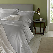 Buy Jigsaw Egyptian Cotton & Cashmere Fitted Sheet, Silver Grey Online at johnlewis.com