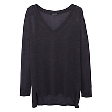 Buy Mango Fine Knit V-Neck Top Online at johnlewis.com