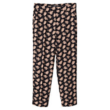 Buy Mango Floral Print Trousers, Black Online at johnlewis.com
