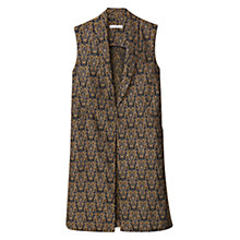 Buy Mango Jacquard Gilet, Black/Multi Online at johnlewis.com