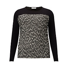 Buy Windsmoor Textured Jumper, Black/Multi Online at johnlewis.com
