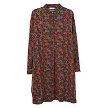 Buy Mango Printed Longline Blouse, Dark Red Online at johnlewis.com