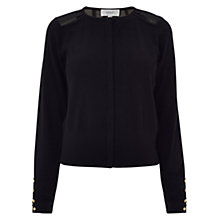 Buy Coast Oceana Cardigan, Black Online at johnlewis.com
