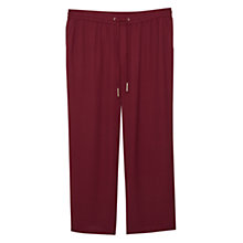 Buy Violeta by Mango Flowy Straight Fit Trousers, Dark Red Online at johnlewis.com