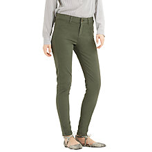 Buy Oasis Jade Stretch Skinny Jeans, Khaki Online at johnlewis.com