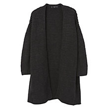Buy Mango Textured Open Front Cardigan, Dark Cardigan Online at johnlewis.com