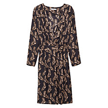 Buy Mango Flowy Print Dress, Medium Brown Online at johnlewis.com