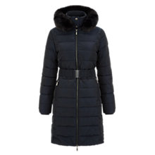Buy Hobbs Jennet Puffa Jacket, Navy Online at johnlewis.com