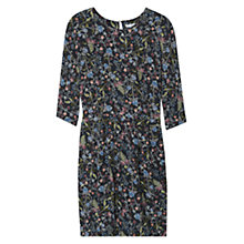 Buy Mango Floral Print Cut Out Detail Dress, Black Online at johnlewis.com