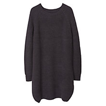 Buy Mango Oversized Textured Sweater, Dark Grey Online at johnlewis.com