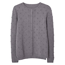 Buy Mango Cotton Appliqué Cardigan, Medium Grey Online at johnlewis.com