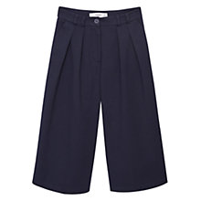 Buy Mango Cotton Cropped Trousers, Navy Online at johnlewis.com