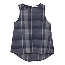 Buy Mango Check Top, Navy Online at johnlewis.com