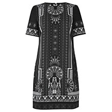 Buy Oasis Empire Print Dress, Black/Multi Online at johnlewis.com