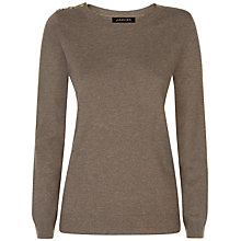 Buy Jaeger Wool Cashmere Button Jumper Online at johnlewis.com