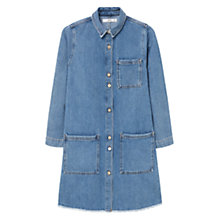 Buy Mango Pocket Denim Dress, Open Blue Online at johnlewis.com