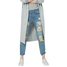 Buy Mango Boyfriend Angie Jeans, Light Open Blue Online at johnlewis.com