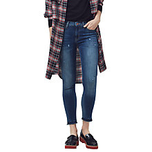 Buy Mango Crop Skinny Isa Jeans, Open Blue Online at johnlewis.com