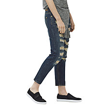 Buy Mango Cropped Nancy Jeans, Open Blue Online at johnlewis.com
