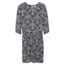 Buy Mango Cut Out Detail Dress, Natural White Online at johnlewis.com