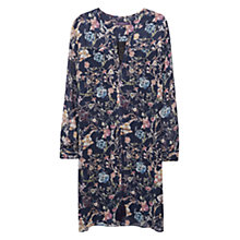 Buy Violeta by Mango Cord Floral Dress, Navy Online at johnlewis.com