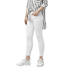 Buy Mango Cropped Skinny Fit Isa Jeans, White Online at johnlewis.com