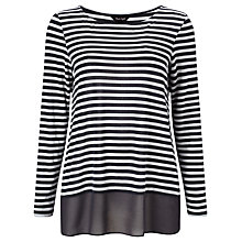Buy Phase Eight Sandie Stripe Top, Charcaol/Ivory Online at johnlewis.com