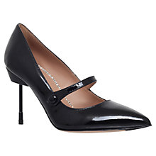 Buy Kurt Geiger Babington Stiletto Heeled Court Shoes, Black Patent Online at johnlewis.com