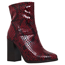 Buy Carvela Slither Block Heeled Ankle Boots, Wine Online at johnlewis.com