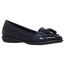 Buy Carvela Comfort Como Leather Tassel Loafers, Navy Online at johnlewis.com
