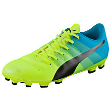 Buy Puma evoPOWER 4.3 AG Football Boots, Yellow/Blue Online at johnlewis.com