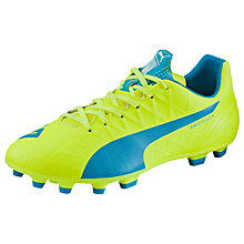 Buy Puma evoSPEED 4.4 AG Football Boots, Yellow/Blue Online at johnlewis.com