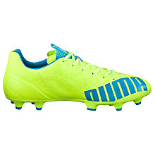 Buy Puma evoSPEED 4.4 FG Football Boots, Yellow/Blue Online at johnlewis.com