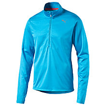 Buy Puma PE Run Long Sleeve Half Zip Top, Blue Online at johnlewis.com