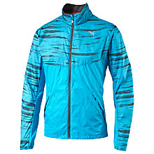 Buy Puma Graphic Woven Jacket, Blue Online at johnlewis.com