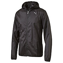 Buy Puma Running Hooded Lightweight Jacket, Black Online at johnlewis.com