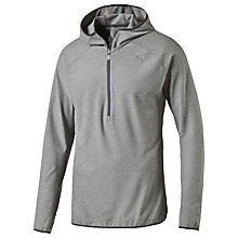Buy Puma Long Sleeve Hooded Running Top, Grey Online at johnlewis.com