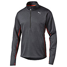 Buy Puma Half Zip Long Sleeve Running Top, Black Online at johnlewis.com