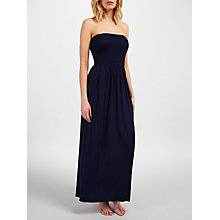 Buy John Lewis Bandeau Maxi Dress, Navy Online at johnlewis.com