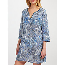Buy John Lewis Zineb Paisley Kaftan, Blue Online at johnlewis.com